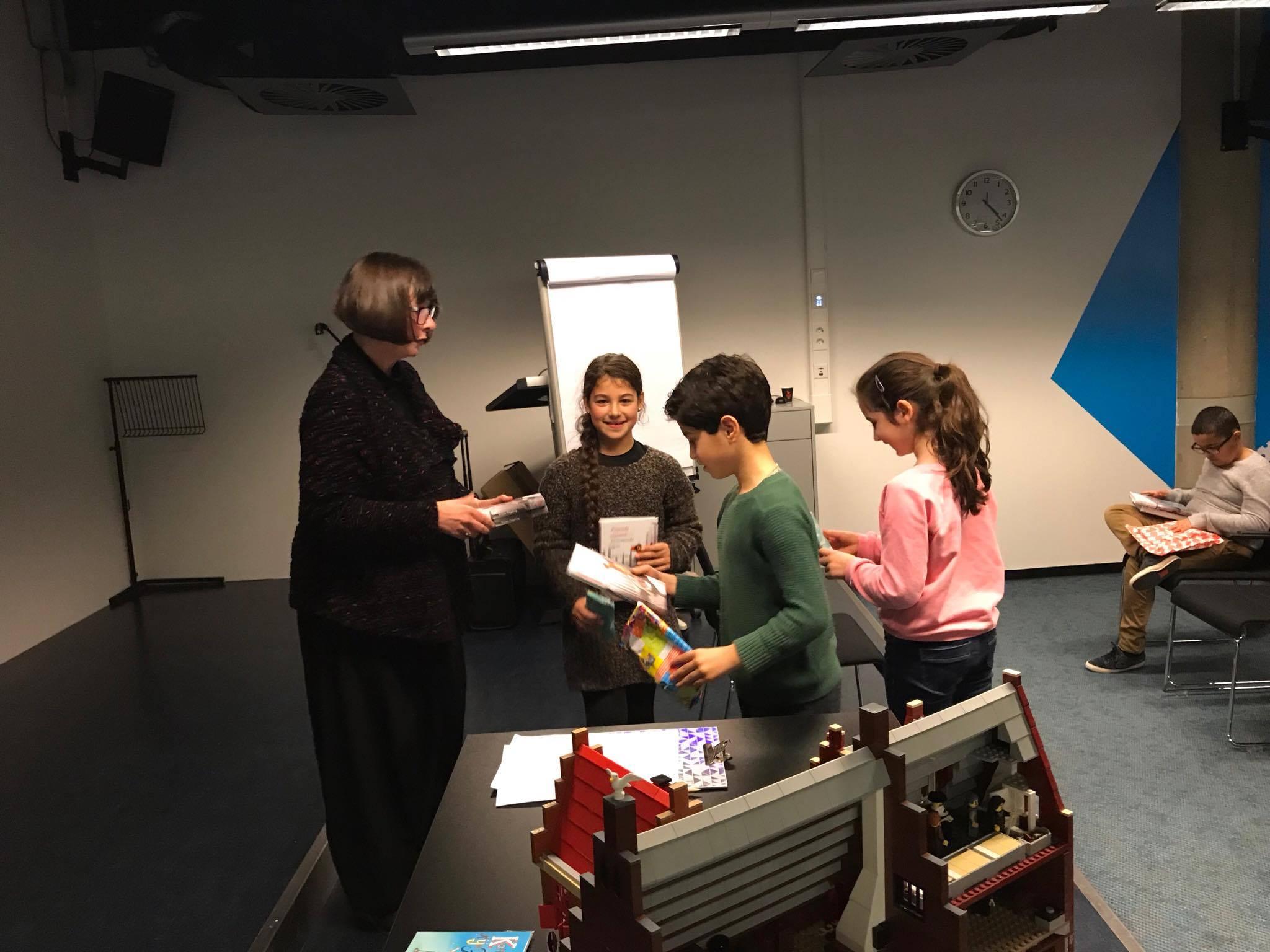 26 november 2017:  Kinderboekenschrijfster Wilma Degeling op bezoek bij LEESKONING !